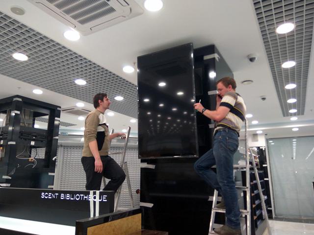 Работы по открытию магазина Л'Этуаль  в ТРЦ «Галактика»