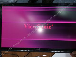 Монитор ViewSonic – розовые полосы на экране