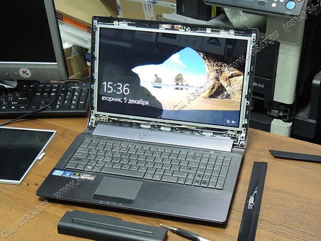 Ноутбук Asus N53S — замена экрана